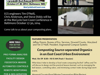 ECS at BioCycle East Coast Conference 2014