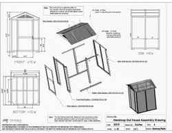 PTR-6H_JOHN_Wheel_Chair_Accessible_Out_House_Assembly_Drawing_-_Updated_Sept_2016