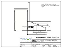 Pit Toilet Cross Section View PTR-6-EXT