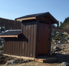 Single stall Decompose at Rampart Pond, BC Parks