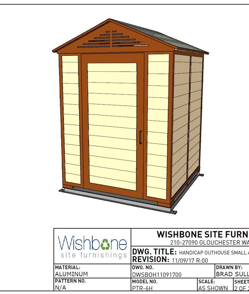 Wishbone vault 3d rendering