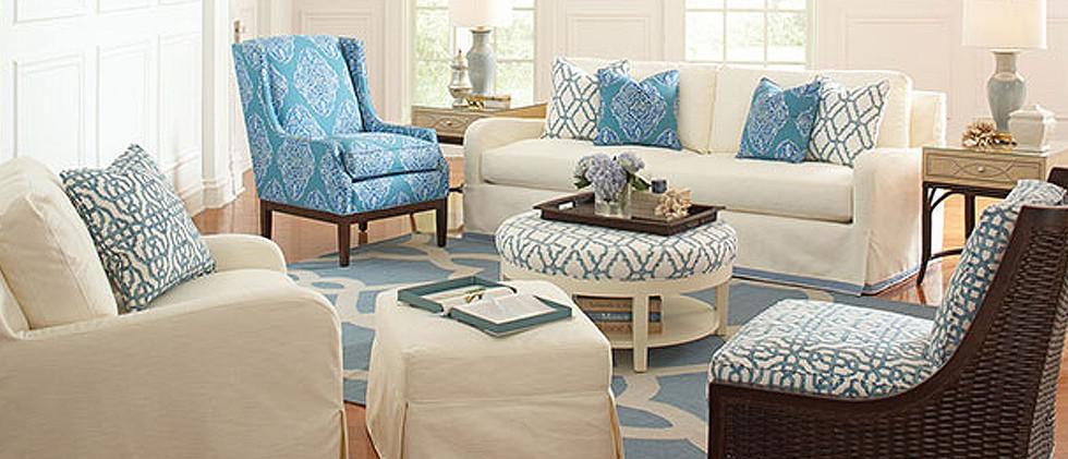 Slip Cover Sleep Sofa, Chair, & Ottoman