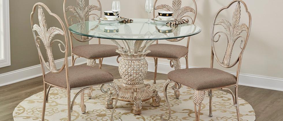 Pineapple Design Metal Dining Set