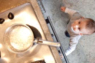 seguridad infantil en la cocina