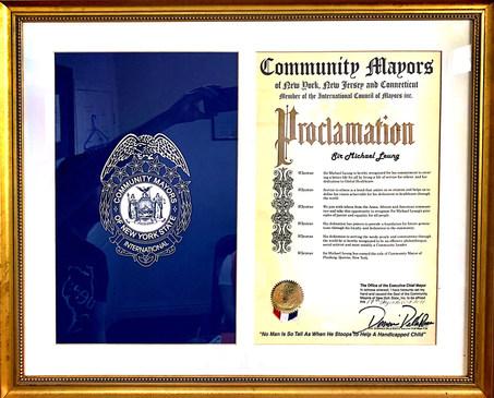 Community Mayor's Proclamation