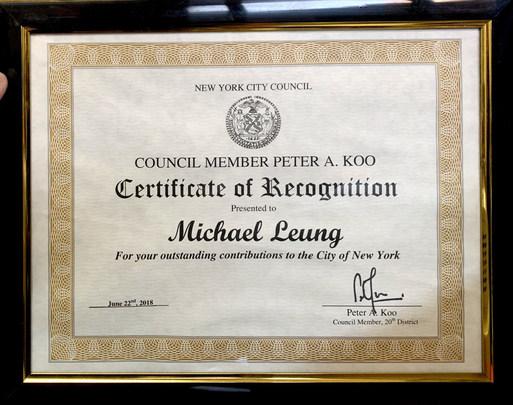 City Council Award
