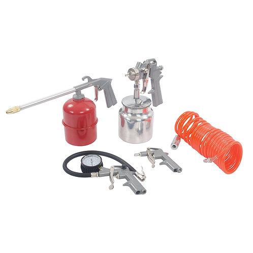 مجموعة أدوات الهواء والضاغط من سيلفرلاين 5pce 633548