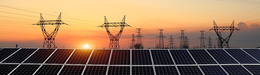 Pylon-and-photovoltaic-panels-1076334974