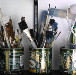 Bob Barron studio painting