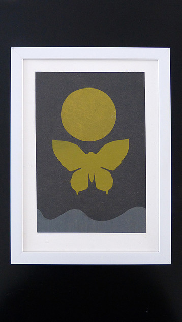 Moth and moon 2 - SOLD