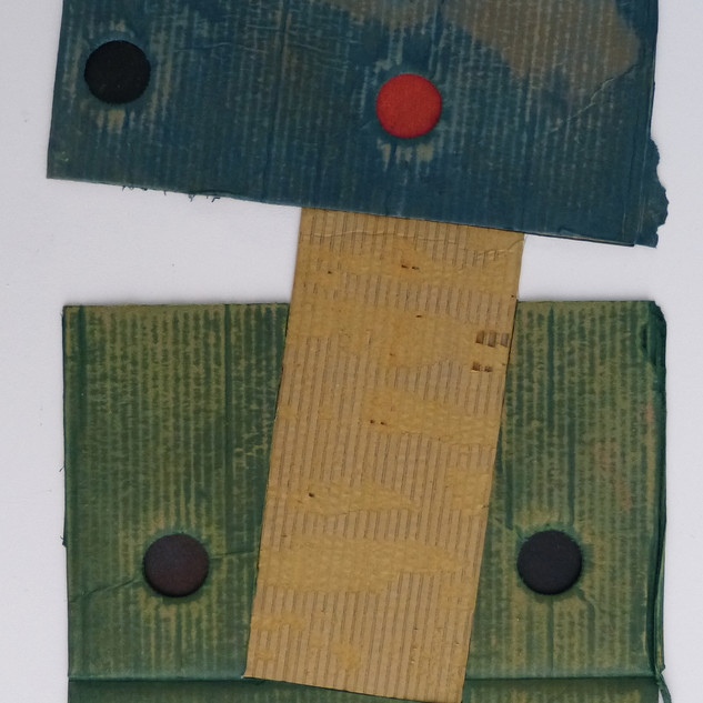 Bob Barron Masque 2 Oil on card painting