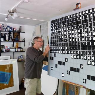 Bob Barron Moons oil on canvas studio pa