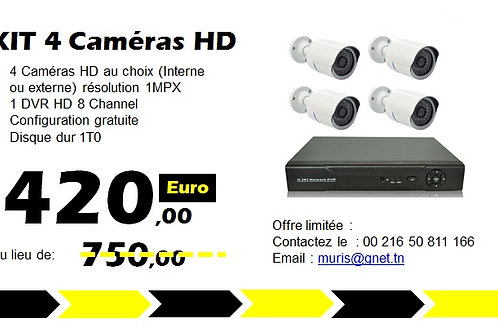 Promotion KIT Vidéo surveillance