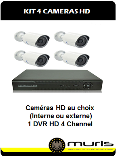 KIT 4 Cameras HD