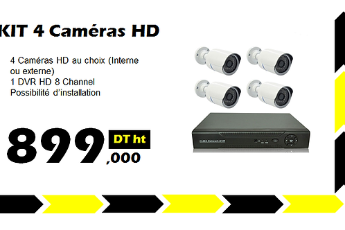 PACK VIDEO SURVEILLANCE 4 HD