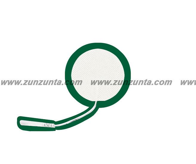 Par de electrodos en forma de círculo de 3cm con cable