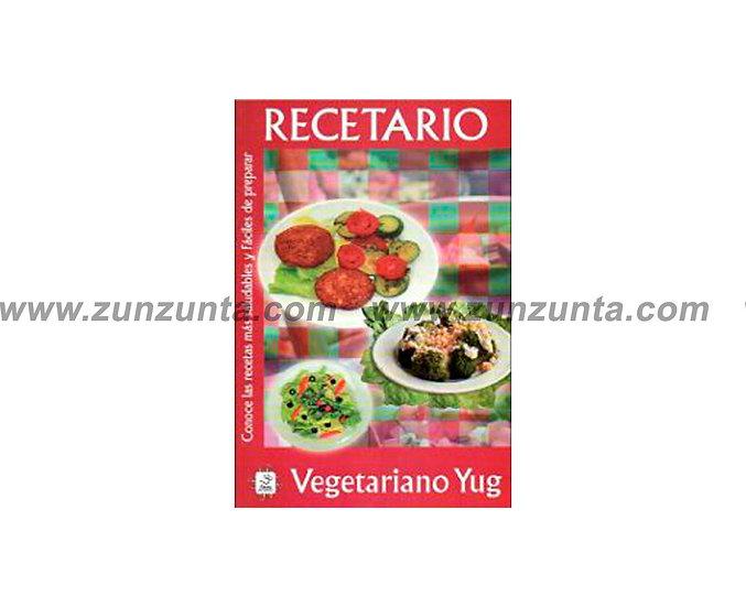 """Libro """"Recetario vegetariano Yug"""""""
