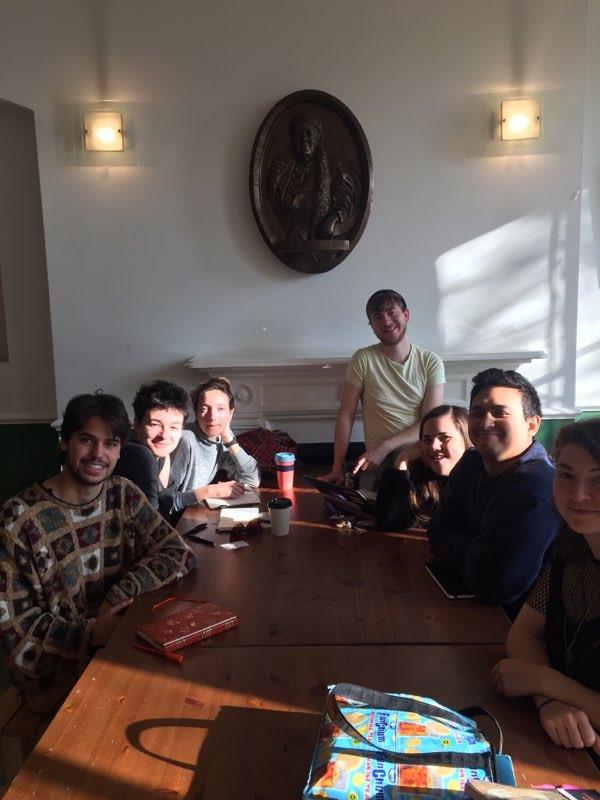 (pictured clockwise from left: Joaquin, Caroline, Clara, Jake, Holly, John and Petrina)