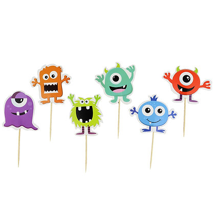 O'Creme Cartoon Cake Toppers, Pack of 12