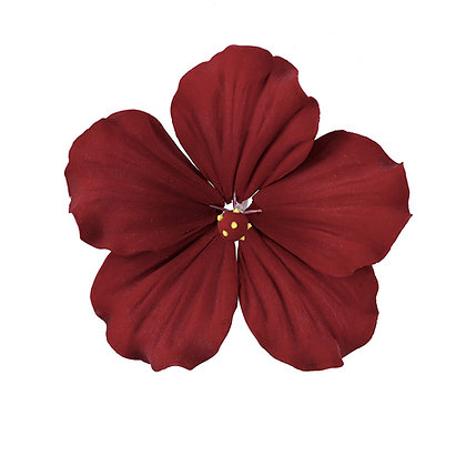 Deep Red Hibiscus Gumpaste Flowers - Set of 3