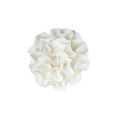 White Large Carnation Gumpaste Flowers - Set of 6