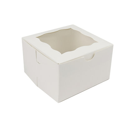 "O'Creme One Compartment Cupcake Box with Window, 4"" x 4"" x 2.5"" H, Pack of 50"