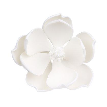 O'Creme White Magnolia Gumpaste Flowers - Set of 3