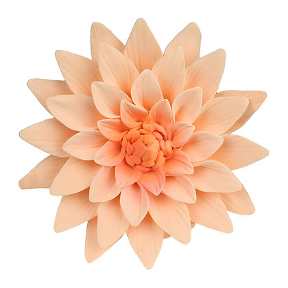 O'Creme Peach Dahlia Gumpaste Flowers - Set of 3
