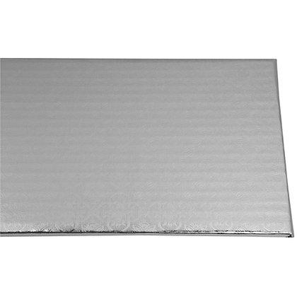 "O'Creme Silver Log Cake Board, 14-1/5"" x 5"" x 1/4"" - Pack of 10"