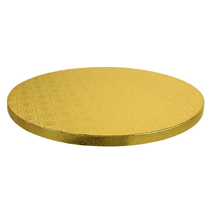 "O'Creme Round Gold Cake Drum Board, 8"" x 1/2"" High, Pack of 5"