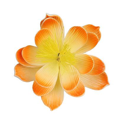 O'creme Peach Waterlily Gumpaste Flowers - Set of 3