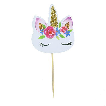O'Creme Unicorn Cake Toppers, Pack of 24
