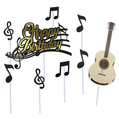 O'Creme Musical Happy Birthday Cake Toppers