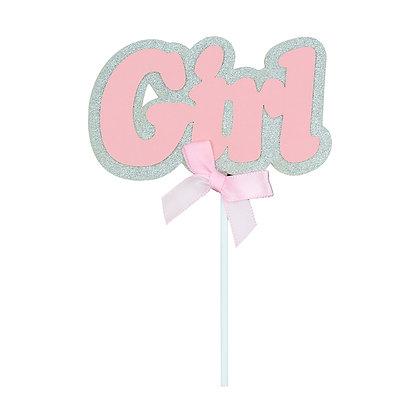 O'Creme Pink 'Girl' Cake Topper