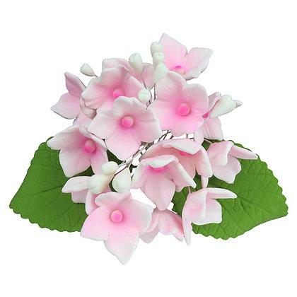 O'Creme Pink Hydrangea Spray Gumpaste Flowers - Set of 3