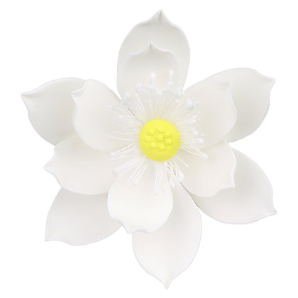 O'Creme White Lotus Gumpaste Flowers - Set of 3