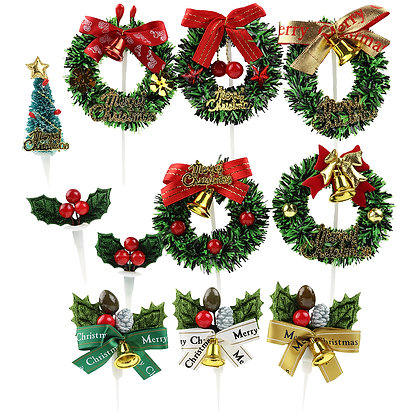 O'Creme Christmas Cake Toppers, Set of 11