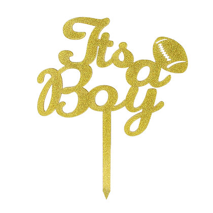 O'Creme Gold 'It's A Boy' Cake Topper