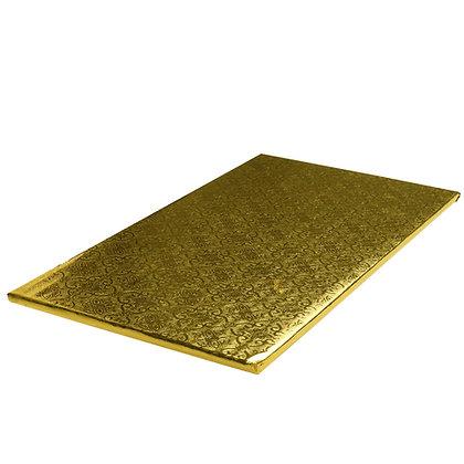 "O'Creme Gold Log Cake Board, 14-1/2"" x 5"" x 1/4"" - Pack of 10"