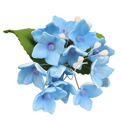 O'Creme Blue Hydrangea Spray Gumpaste Flowers - Set of 3
