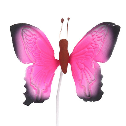 O'Creme Gumpaste Butterfly, Pink w/Dark Edges - Set of 12
