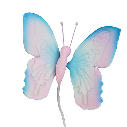 O'Creme Gumpaste Butterfly, Blue and Pink - Set of 12