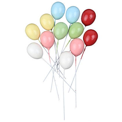 O'Creme Colorful Balloons Cake Toppers, Pack of 10