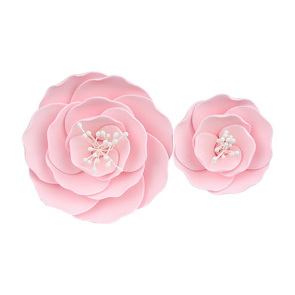 O'Creme Pink Briar Rose Gumpaste Flowers - Set of 6