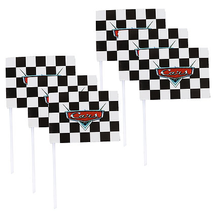 O'Creme Racing Car Cake Toppers, Pack of 6