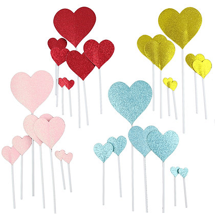 O'Creme Heart Cake Toppers, Pack of 28