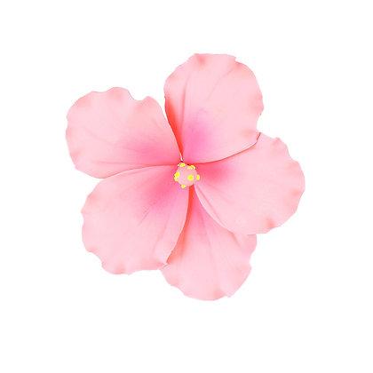 Light Pink Hibiscus Gumpaste Flowers - Set of 3