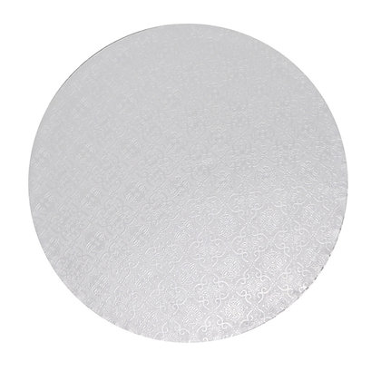 "O'Creme Round White Cake Drum Board, 9"" x 1/2"" High, Pack of 5"