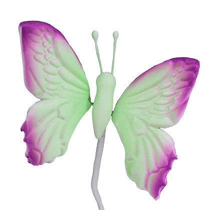 O'Creme Gumpaste Butterfly, Lavender/Green - Set of 12