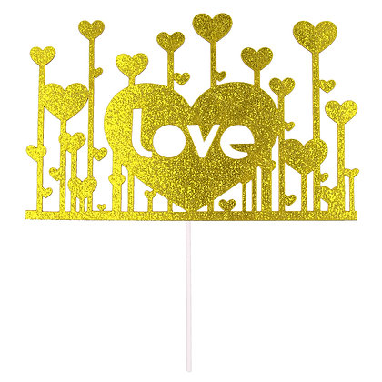 O'Creme Love with Hearts Cake Topper